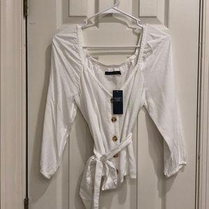 NWT A&F white blouse